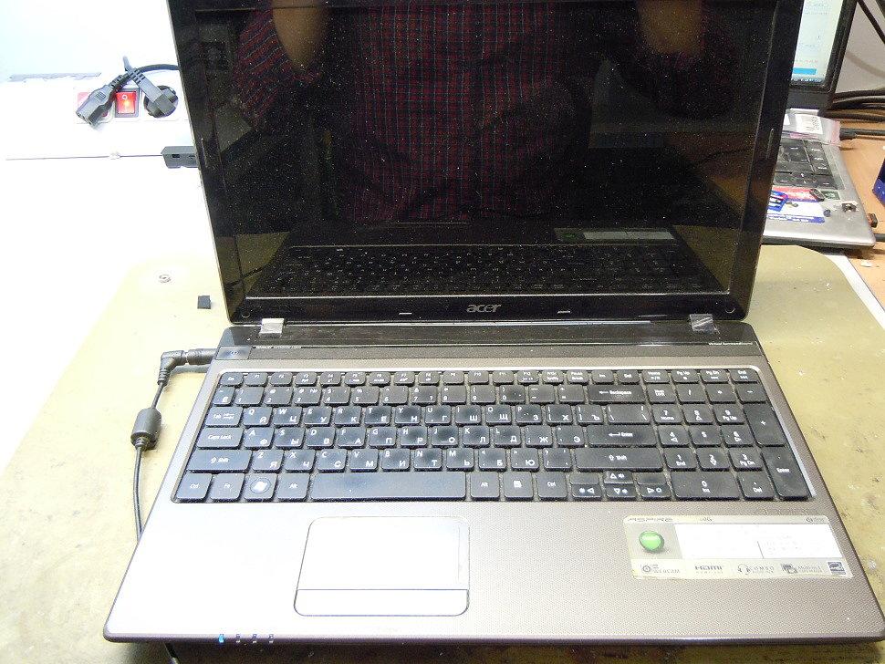 Графический чип неисправен, ноутбук не включается
