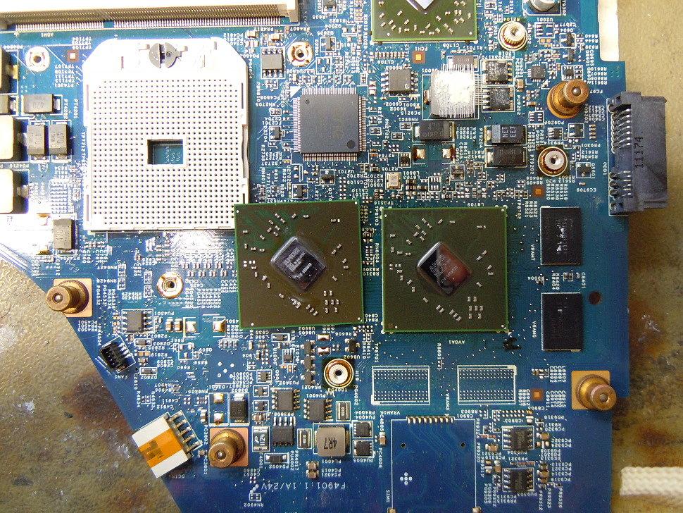 Графический чип заменён