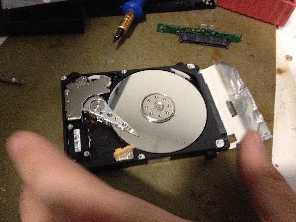 Ремонт внешнего жесткого диска своими руками 45